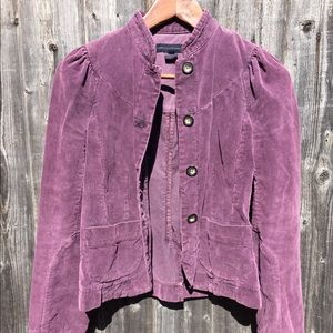 French Connection Purple Corduroy Jacket